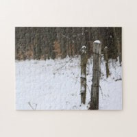 Rural Fence Posts Backroad Scenic Country Family Jigsaw Puzzle