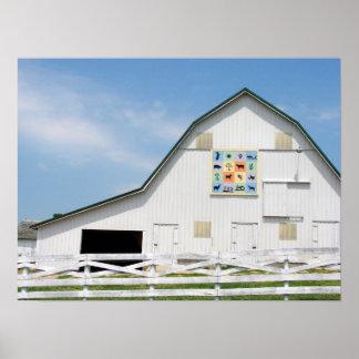 Rural Iowa Animal Barn Poster