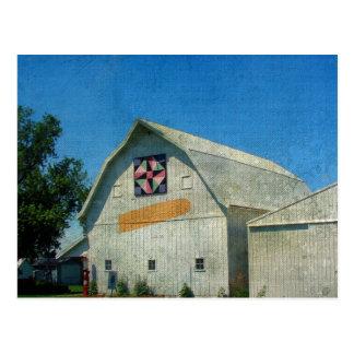 Rural Iowa Barn Postcard