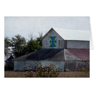 Rural Iowa Barn With A Quilt Card