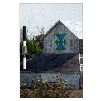 Rural Iowa Barn With A Quilt Dry Erase Whiteboards