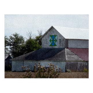 Rural Iowa Barn With A Quilt Postcard