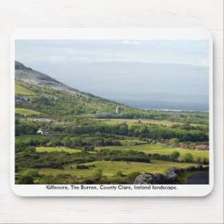 Rural Ireland landscape, The Burren, Co. Clare Mouse Pad
