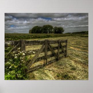 rural landscape on poster