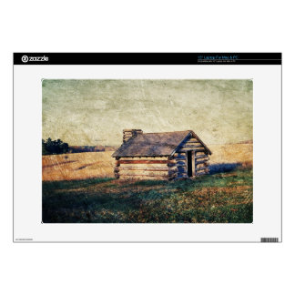 """Rural Landscape prairie western country cabin Decals For 15"""" Laptops"""