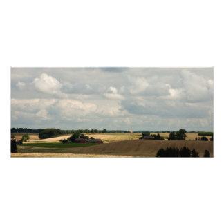 Rural landscape rack card design