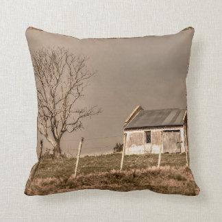 Rural Landscape Scene Throw Pillow