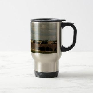 Rural landscape travel mug