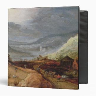 Rural Landscape with a Farmer Bridling Horses a P 3 Ring Binders