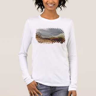 Rural Landscape with a Farmer Bridling Horses, a P Long Sleeve T-Shirt