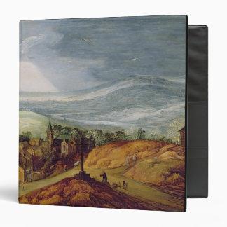 Rural Landscape with a Pilgrim Kneeling Before the Binder