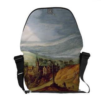 Rural Landscape with a Pilgrim Kneeling Before the Courier Bag