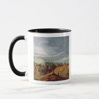Rural Landscape with a Pilgrim Kneeling Before the Mug
