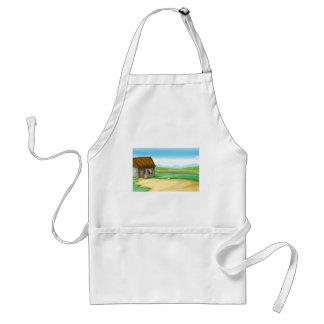 Rural landscape with barn standard apron