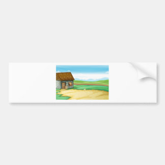 Rural landscape with barn car bumper sticker
