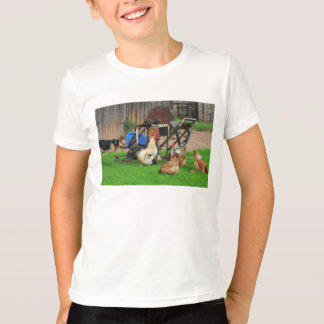 Rural landscape with farm animals. T-Shirt