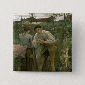Rural Love, 1882 Pinback Button