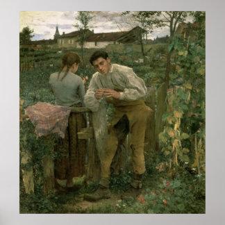 Rural Love, 1882 Poster