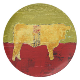 Rural Modern Cow Plate