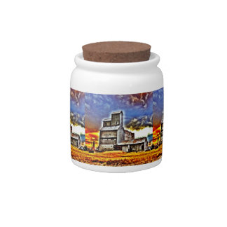Rural Montana Country Grain Elevator Farmers Gift Candy Dish