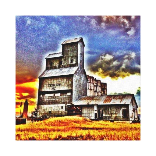 Rural Montana Country Grain Elevator Farmers Gift Canvas Print