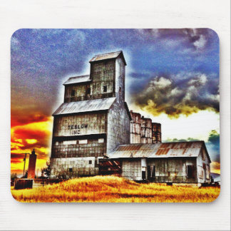 Rural Montana Country Grain Elevator Farmers Gift Mouse Pad