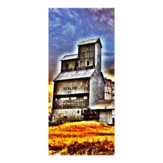 Rural Montana Country Grain Elevator Farmers Gift Personalized Rack Card