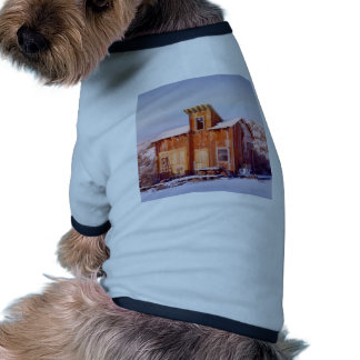 Rural Montana Country Rustic Old Wood ranch Dog Tee