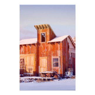 Rural Montana Country Rustic Old Wood ranch Stationery