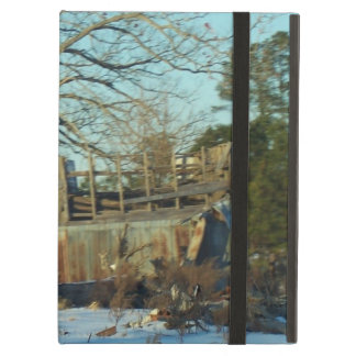 Rural NC Snow Scene iPad Cover
