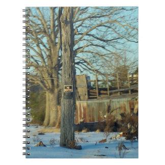 Rural NC Snow Scene Notebook