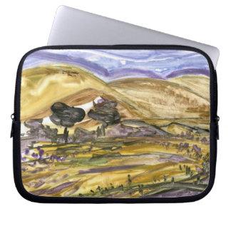 Rural Oklahoma Landscape Art Expressionist Laptop Laptop Computer Sleeves