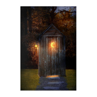 Rural - Outhouse - Do the necessary Acrylic Wall Art