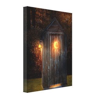 Rural - Outhouse - Do the necessary Canvas Print