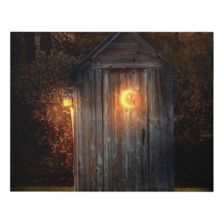 Rural - Outhouse - Do the necessary Panel Wall Art
