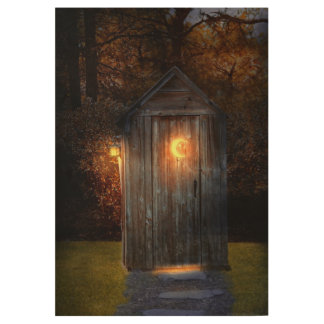 Rural - Outhouse - Do the necessary Wood Poster