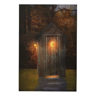 Rural - Outhouse - Do the necessary Wood Wall Decor
