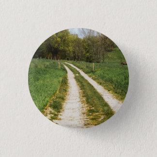 Rural Path In Green Spring Landscape Button