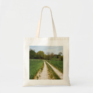Rural Path In Green Spring Landscape Tote Bag