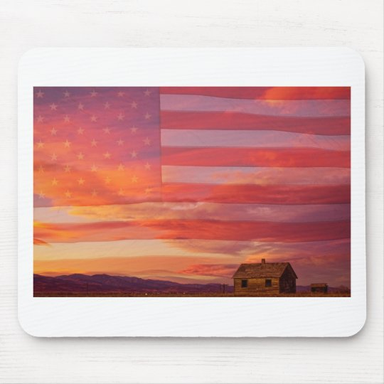 Rural Patriotic America Mouse Pad