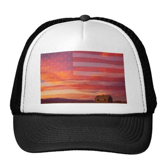 Rural Patriotic America Trucker Hat