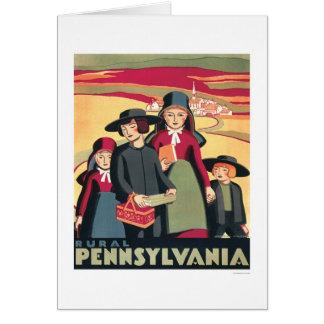 Rural Pennsylvania Amish 1939 WPA Greeting Card