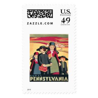 Rural Pennsylvania Amish 1939 WPA Stamps