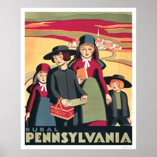 Rural Pennsylvania Amish 1939 WPA Poster