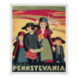 Rural Pennsylvania Amish 1939 WPA Print