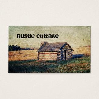 Rural prairie Primitive western country log cabin Business Card