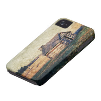 Rural prairie Primitive western country log cabin iPhone 4 Case-Mate Case