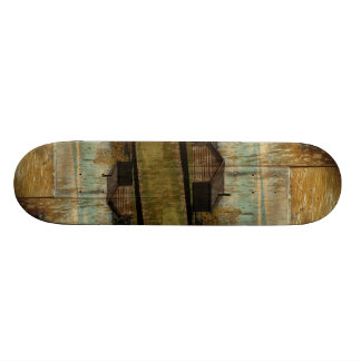 Rural Railway Primitive western country log cabin Skateboard