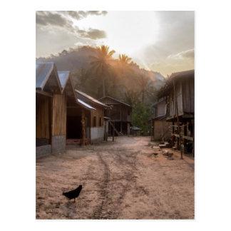 Rural Riverside Village on Mekong River, Laos Postcard
