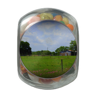 Rural Road Glass Candy Jar